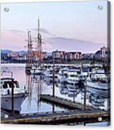 Calm In The Harbour Acrylic Print by Jenny Hudson