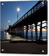 Calm Night At Newport Pier Acrylic Print