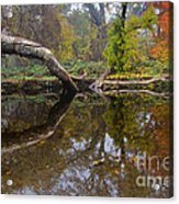 Calm On Big Chico Creek Acrylic Print