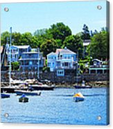 Calm Summer Day At Rockport Harbor Acrylic Print