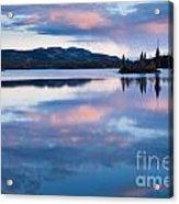 Calm Twin Lakes At Sunset Yukon Territory Canada Acrylic Print