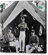 Calvary Troopers On Bivouac Tent Date Unknown Image Restored Color Added 2008  Acrylic Print
