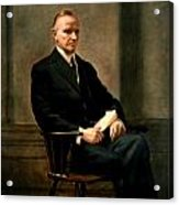 Calvin Coolidge Presidential Portrait Acrylic Print