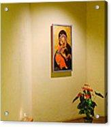 Camaldoli Monastery Prayer Room Acrylic Print
