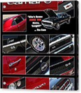 Camaro-drive - Poster Acrylic Print