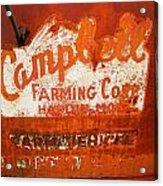 Cambell Farming Corperation Hardin Montana Acrylic Print