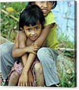 Cambodian Children 02 Acrylic Print