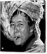 Cambodian Lady Smoker Acrylic Print