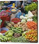 Cambodian Vegetable Market Acrylic Print by Craig Lovell