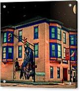 Cambridge City At Night Acrylic Print