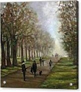 A Walk In Hyde Park London Acrylic Print