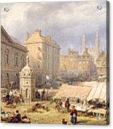 Cambridge Market Place, 1841 Acrylic Print