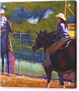 Camden Cowboy And Cowgirl Acrylic Print