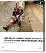 Camden Lock Path Acrylic Print