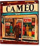Cameo Dress Shop Acrylic Print