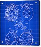 Camera Shutter Patent 1910 - Blue Acrylic Print