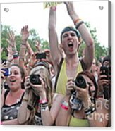 Cameras In The Crowd Acrylic Print
