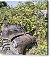 Camouflaged Car Acrylic Print