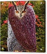 Camouflaged Owl Acrylic Print