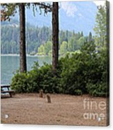 Camp By The Lake Acrylic Print