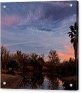 Camp Davis River Sunset Acrylic Print