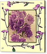 Campanula Framed With Pressed Petals Acrylic Print