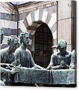Campari Grave Marker Detail IIi Disciples Last Supper Acrylic Print