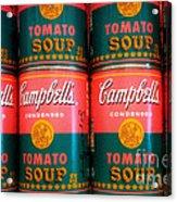 Campbell's Tomato Soup Pop Art Acrylic Print
