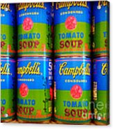 Campbell's Tomato Soup Retro Andy Warhol Acrylic Print