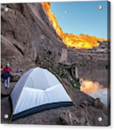 Camping Along The Labyrinth Canyon Acrylic Print