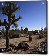 Camping In The Desert Acrylic Print