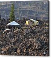 Camping On The Moon Acrylic Print