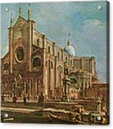 Campo Dei Santi Giovanni E Paolo And The Scuola Grande Di San Marco, Venice Oil On Canvas Acrylic Print