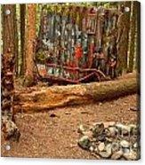 Campsite By The Box Car Acrylic Print