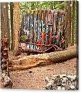 Campsite Near A Train Wreck Acrylic Print