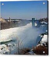 Canada And America At Niagara Falls Acrylic Print