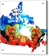 Canada - Canadian Map By Sharon Cummings Acrylic Print