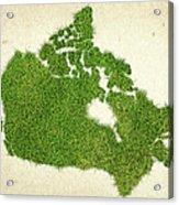 Canada Grass Map Acrylic Print