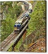 Canadan Railroad Above The Cheakamus River Acrylic Print