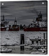 Canadian And United States Icebreakers Acrylic Print