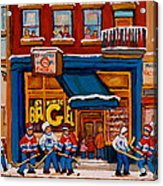 Canadian  Artists Paint Hockey And Montreal Streetscenes Over 500 Prints Available  Acrylic Print