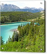Canadian Highway Lake Acrylic Print