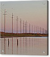 Canadian Hole Outer Banks At Sunset Acrylic Print