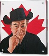 Canadian Icon Stompin' Tom Conners  Acrylic Print