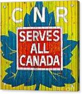 Canadian National Railway Stamp Acrylic Print