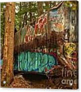 Canadian Pacific Box Car Wreckage Acrylic Print
