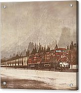Canadian Pacific In Banff  Acrylic Print