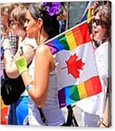 Canadian Rainbow Acrylic Print