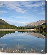 Canadian Rocky Mountains With Lake  Acrylic Print
