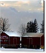 Canadian Snowy Farm Acrylic Print